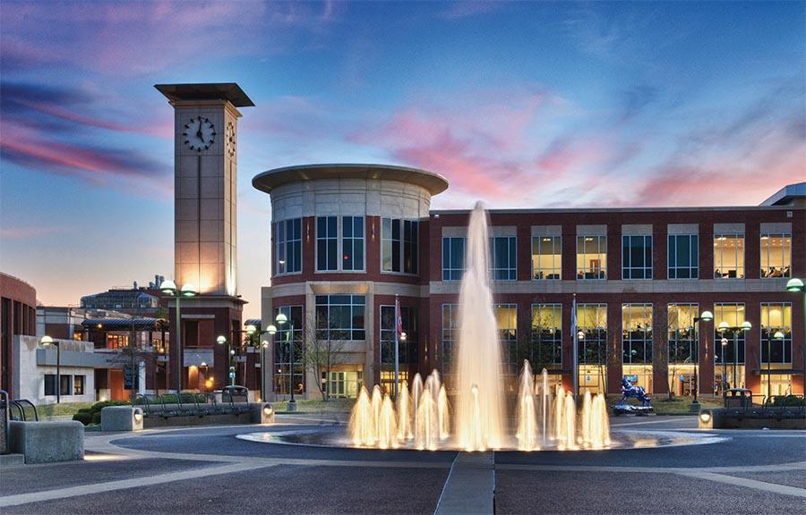 U of M campus fountain