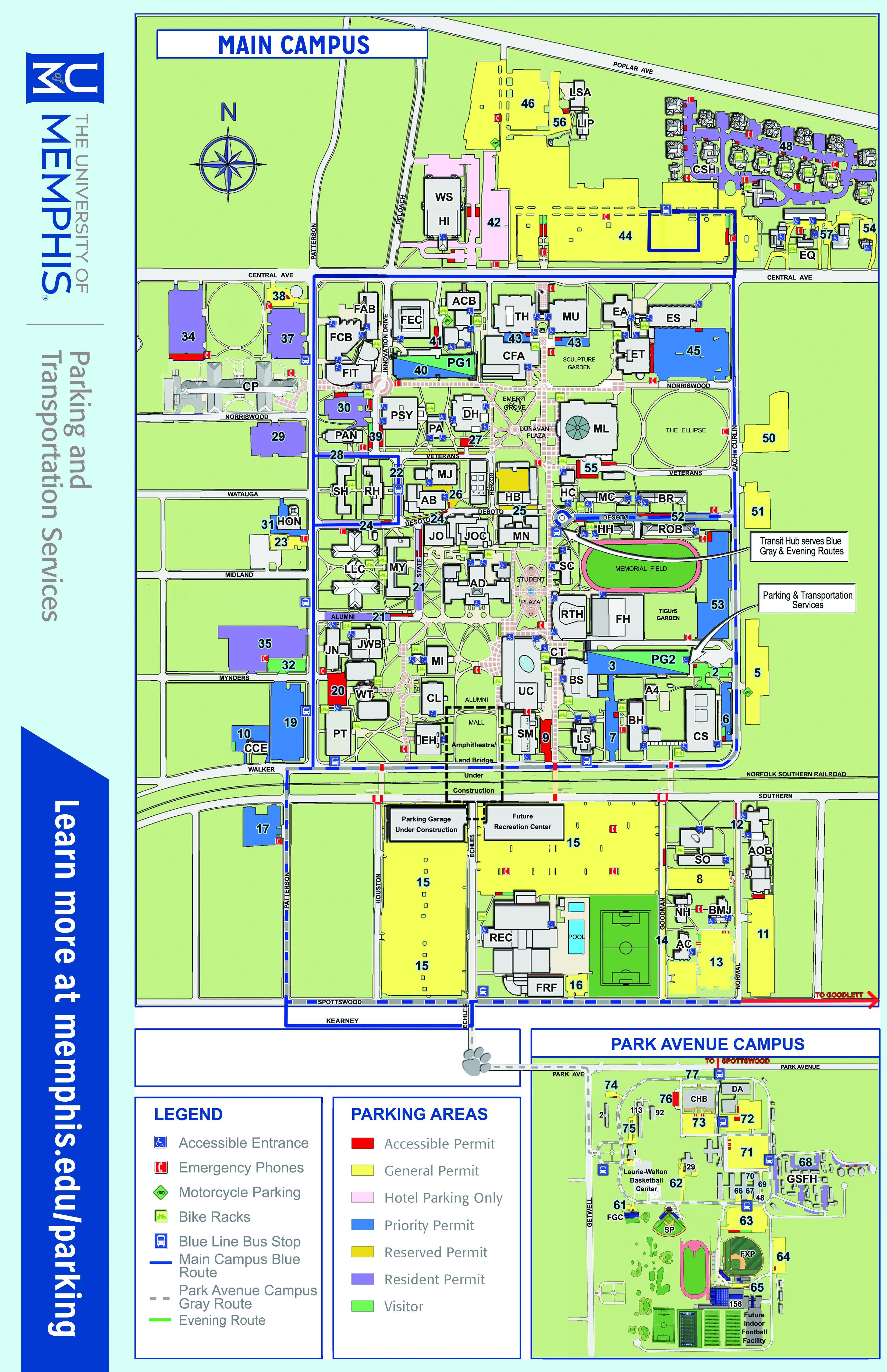 Uofm Campus Map.Map Umps Online Visitors Guide